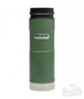 Термокружка зеленая 0,47L CLASSIC ONE HAND Stanley (Стенли) (10-01394-013)
