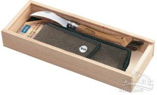 Нож для грибов Opinel (опинель) Chapighon blister №8 VRN с чехлом в пенале (001327)