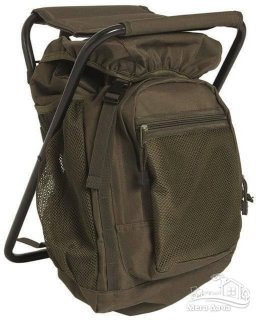 Туристический (рыболовный) стул рюкзак Sturm Mil-Tec olive 20 л 14059001