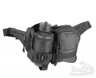 Тактическая Сумка Mil-Tec Black поясная с фляжкой 13511002